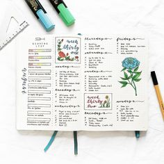 First spread of August ft. summer homework reading list