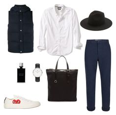 """Untitled #41"" by rayensulistiawan on Polyvore featuring Banana Republic, Sophnet., Topman, Yves Saint Laurent, Play Comme des Garçons, Daniel Wellington, Études, Carven, men's fashion and menswear"