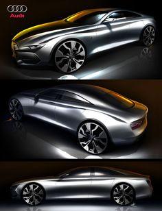 2014 Audi A5 4 door by: Tony Chen by Tony Chen, via Behance