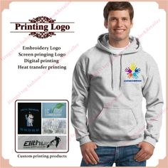 Customize Your Embroidered Hoodies. Pullover Hooded Sweatshirt