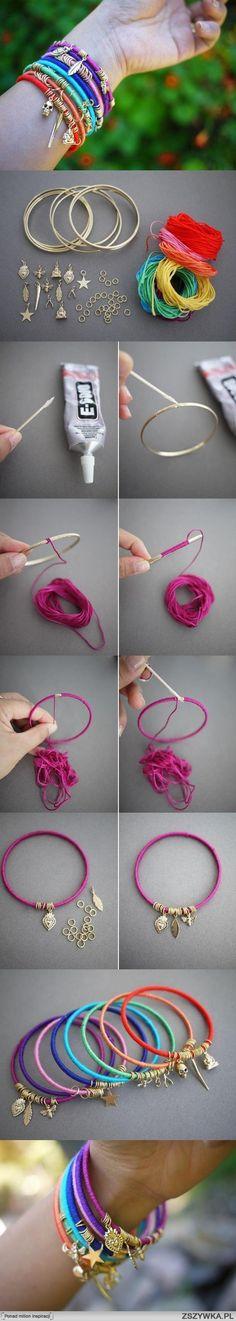 diy, easy, summer, bracelet