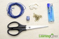 Supplies needed for making the 2-string bracelet