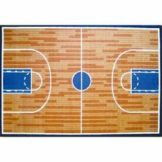 Fun Time Basketball Court Sports Rug Size: 3'3'' x 4'10'' by Fun Rugs. $53.59. GI-10 3958 Size: 3'3'' x 4'10'' Medium Pile  Nylon Rug Bring your son or daughter's favorite sport into their bedroom with this basketball court designed sports rug. Constructed of 100pct machine woven nylon with a non-skid backing this kids rug will be the perfect bedroom rug for your little basketball star. Features: -Machine made with 100pct nylon -Kids rug with non-skid backing for extra safety...