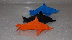 origami dolphin - YouTube