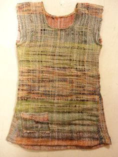 hand woven fabric, sewed up into a little tunic