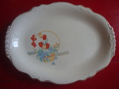 Vintage Homer Laughlin Tulip Plate I wish this was mine. I have two cups and saucers.