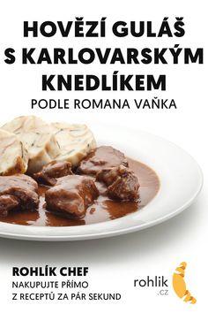 Czech Recipes, Beef, Food, Meat, Meal, Eten, Meals, Ox, Ground Beef