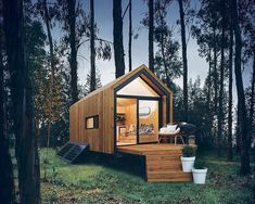 """This """"Nook"""" tiny home is pre-fabricated and assembled on-site by New Zealand-based Nook Tiny House! The Nook tiny house """"is a pint-sized, self-contained, fully-transportable marvel."""" The tiny house is built on a long x wide trailer x x Tiny House Talk, Tiny House Cabin, Tiny House Living, Tiny House On Wheels, Tiny House Design, Hut House, House Deck, House Floor, Timbercraft Tiny Homes"""