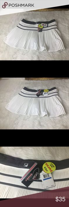 NWT Fila Tennis Skirt.  Sz XL  Retails for $70.00 Neil Barrett White Designer Jeans.  Sz  26. Great pleated tennis skirt with built in shorts! Fila Other