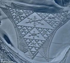 Crop circles, Alpine style: Artist creates incredible impression with his giant patterns in the snow