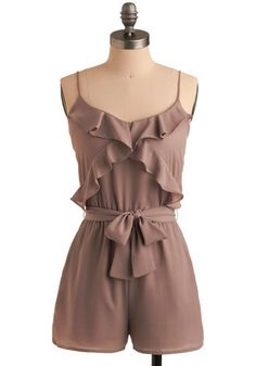 Rompers! Again, a trend that I didn't really expect to stick around after last year but it looks like they are here to stay for a while. I love the neutral tone on this romper.  $34.99 from Modcloth.com