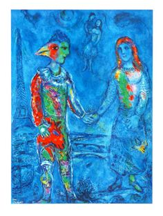 Couple in Blue, Marc Chagall
