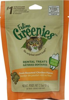 Greenies Feline Dental Treats Oven Roasted Chicken -- 2.5 oz(packof2) *** Check this awesome product by going to the link at the image.
