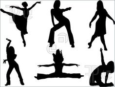 Illustration of silhouettes of female dancers