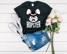 Hopster Hipster Easter Bunny Shirt - Hipster Easter Shirt - Easter Pun Shirt - Funny Animal Tee - Hipster Bunny Shirt - Funny Easter T-Shirt Women's Shirts, Kids Shirts, Easter Puns, Hipster Kid, Easter T Shirts, Funny Animal, Hoodies, Sweatshirts, Bunny