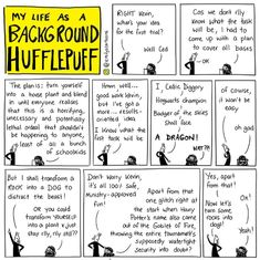 Emily's Cartoons : My Life as a Background Hufflepuff Harry Potter Comics, Harry Potter Marauders, Harry Potter Jokes, Harry Potter Universal, Harry Potter Fandom, Dumbledore Comics, Drarry, Background Slytherin, Hufflepuff Pride
