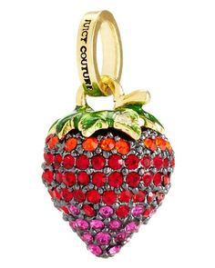 Juicy strawberry pave charm, need this for the juicy couture bracelet im getting soon Pandora Bracelets, Pandora Jewelry, Charm Jewelry, Pandora Charms, Charm Bracelets, Pandora Pandora, Diy Jewelry, Jewelry Box, Juicy Couture Charms