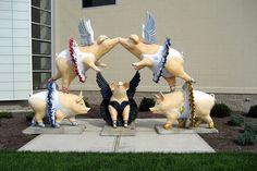 Cincinnati: Cincinnati Ballet - Flying Pigs by wallyg, via Flickr