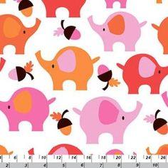 Copenhagen Print Factory House Designer - Copenhagen Kids Organic - Elephant Parade in Pink