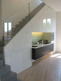 New storage interior stairs Ideas Staircase Storage, Stair Storage, Staircase Design, Interior Stairs, Interior Design Living Room, Kitchen Under Stairs, Escalier Design, Modern Stairs, House Stairs