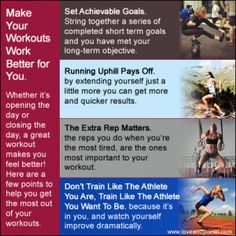 Love and Primal: EXERCISE: Making Your Workouts Work Better for You. Whether its opening the day or closing the day, a great workout makes you feel better! #fitness #beinspired #motivation