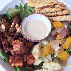 Vegan Cinnamon Chili Sweet Potato Bowl - Can't wait to try this veggie bowl!