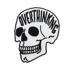 Anxiety skull glow in the dark iron on patch Overthinking embroidere Pin And Patches, Iron On Patches, Skull Patches, Punk Patches, Handpoke Tattoo, Star Wars Quotes, Star Wars Characters, Skull Art, Back Tattoo