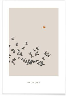 Bird And Birds als Premium Poster door Sarah Bühler | JUNIQE