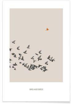 Bird And Birds als Premium Poster door Sarah Bühler | JUNIQE
