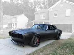 '67 Matte Black Camaro Streetfighter. I love it!