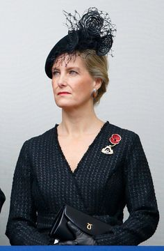 Sophie, Countess of Wessex attends the annual Remembrance Sunday Service at the Cenotaph on Whitehall on November 8, 2015 in London, England.