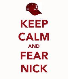 Keep Calm and Fear Nick (Saban)  I <3 Nick!!!