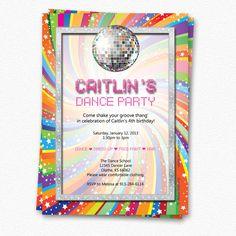 Custom Dance Party Invitation. $12.00, via Etsy.