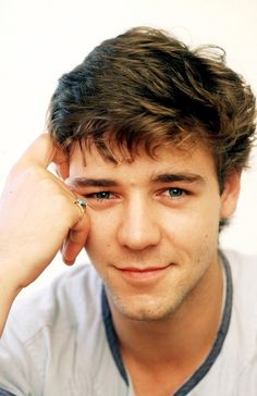 Young Russel Crowe. Speechless. Young, male actor, portrait, photo