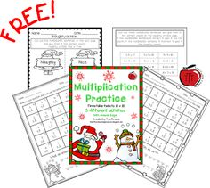 Free Christmas Multiplication Activities  As it is getting closer to Christmas I am always looking for ways to engage my students and keep them learning. My students always have fun with these Multiplication riddles and sorting activity.  Included are 3 fun Christmas/winter themed multiplication pages for students to practice multiplying numbers to 10 x 10. There are 2 riddle pages and a multiplication sentence sort page. Answer keys included to make your life easier!  To get your free copy…