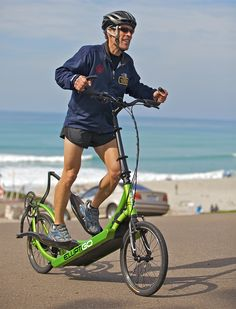 ElliptiGO is a combination of a stationary elliptical trainer and a bicycle. It delivers a comfortable and fun workout experience that closely mimics outdoor running without the associated negative impact. This bicycle was designed for fitness enthusiasts who enjoy the elliptical trainer motion, but do not want to be stuck in a gym.