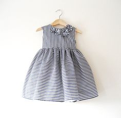 If I had a girl... Pippa Stripe Toddler Baby Occasion Dress. $95.00, via Etsy.