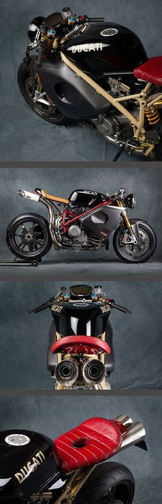 Ducati by Mr. Martini Holy balls, this bike is absurdly fantastic looking. Ducati Cafe Racer, Cafe Bike, Cafe Racers, Ducati Motorcycles, Custom Motorcycles, Custom Bikes, Cars And Motorcycles, Ducati 1098s, Moto Bike
