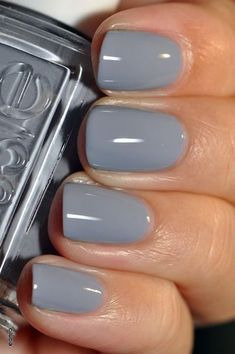 Top 10 Best Grey Nail Polishes on Rank & Style. Did your favorite make the top Click now to see the full list. Top 10 Best Grey Nail Polishes on Rank & Style. Did your favorite make the top Click now to see the full list. Essie Nail Polish Colors, Grey Nail Polish, Gray Nails, Nail Polishes, Summer Nail Polish Colors, Fall Nail Colors, Black Nails, Wedding Nail Colors, Wedding Nails