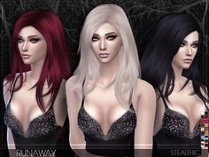 Runaway Female Hair by Stealthic at TSR • Sims 4 Updates