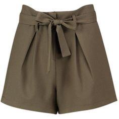 Boohoo Rebecca Tie Belt Shorts   Boohoo ($19) ❤ liked on Polyvore featuring shorts, sequined shorts, hot pants, micro shorts, embellished shorts and hot short shorts