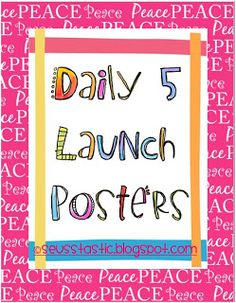 Classroom Freebies: Daily 5 Launch Poster Freebies