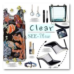 """It's All Clear Now"" by jelenalazarevicpo ❤ liked on Polyvore featuring Emilio Pucci, Nadia Gabriella, Chart Metal Works, Brooks Brothers, Yves Saint Laurent, Christian Dior, Marc Jacobs, clear and Seethru"
