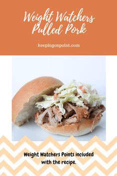 This pulled pork can be made in the oven, slow cooker or pressure cooker. Ww Recipes, Pork Recipes, Healthy Recipes, Dinner Recipes, Sausage Recipes, Healthy Foods, Shredded Chicken Recipes, Shredded Pork, Health And Fitness