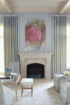 Will need to find a flower idea I can paint on a large canvas to hide the TV when we move it over the fireplace when not in use, mostly when we have guests over