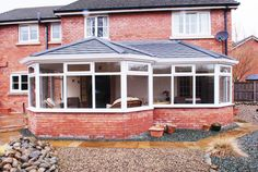 Eurocell supply a full range of quality UPVC products to homeowners, specifiers & trade customers. Roofing Options, Roofing Systems, Semi Detached, Detached House, Tiled Conservatory Roof, Roof Extension, Winter Garden, Sunroom, Conservatories