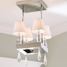 Modern Elegance Crystal Chandelier - Shades of Light