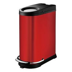 The Viva Trash Can boasts a stylish appearance that's perfect for the home or office. Part of the EKO series from Soehnle, its narrow design fits between spaces, while a push-hole on the lid lets you throw away cans and small items easily.