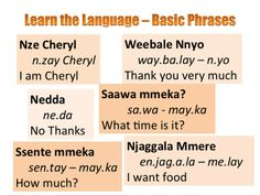 Learn Luganda - Learning Luganda Language - Learn to Speak ...
