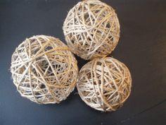 Make your own twine decorator twine balls